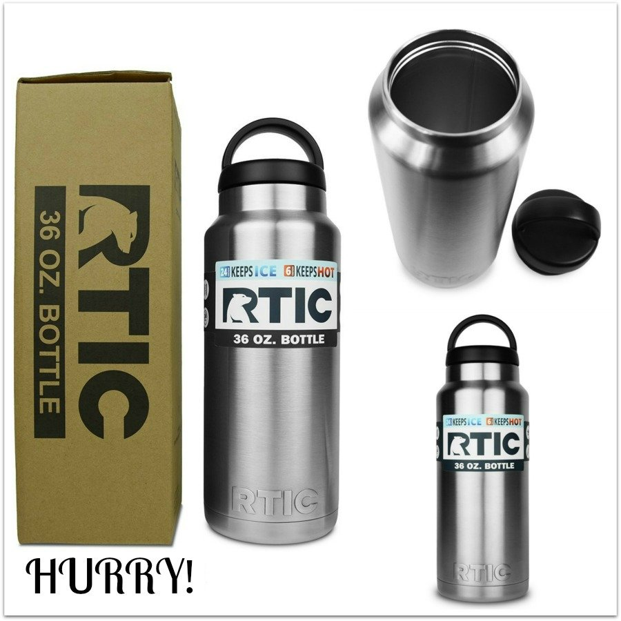 Highly Rated RTIC 36 oz Stainless Bottle Only $14.50 on Amazon!