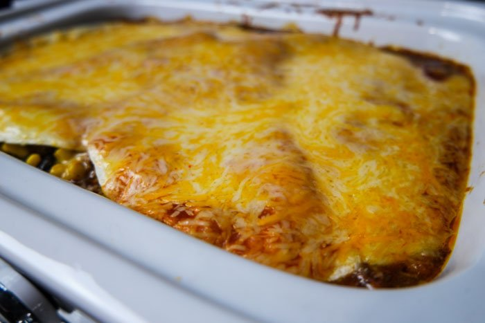 Slow Cooker Turkey Enchilada Bake cooked (1 of 1)