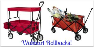 Walmart Rollbacks On Ozark Trail Folding Wagons