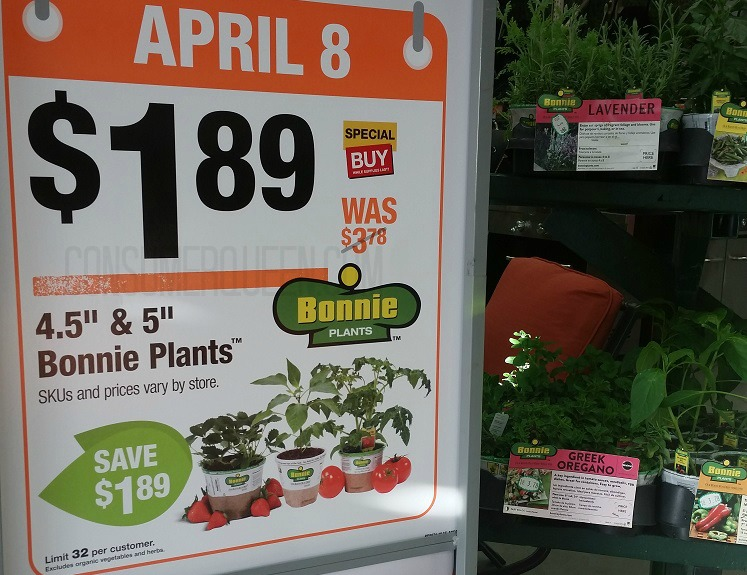 bonnie veggie plants 1 89 reg 3 78 at home depot today only