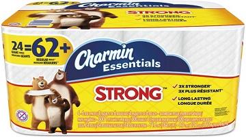 HOT! Charmin Essentials 24 Giant Rolls (= 62 reg. rolls) $9.99 at Staples!