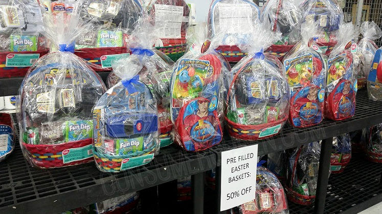 Pre filled easter baskets 5 at walmart grab em while you can these would make some really afforable toys for the gift closet take the baskets apart use the candy as treats and save the toys for birthdays etc negle Images