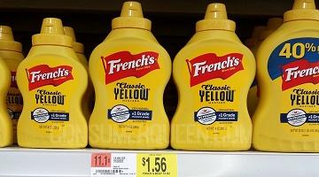 French's Yellow Mustard 56¢, Ketchup 98¢ at Walmart AGAIN!