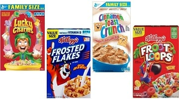 Family Size General Mills & Kelloggs Cereals $2.99 Shipped From CVS!