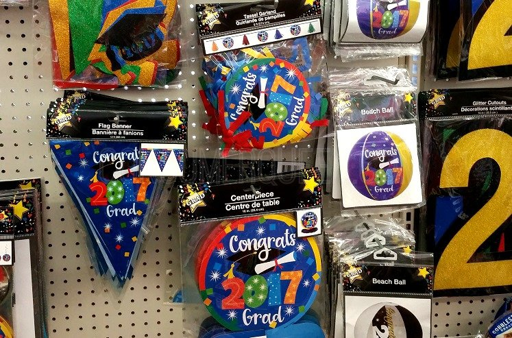 we founds all kinds of decorations at our store crepe paper yard signs banners and more inventory can differ between stores but you should be able to - Dollar Tree Decorations