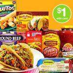 Old El Paso Refried Beans, Taco Shells 50¢ at Walgreens!