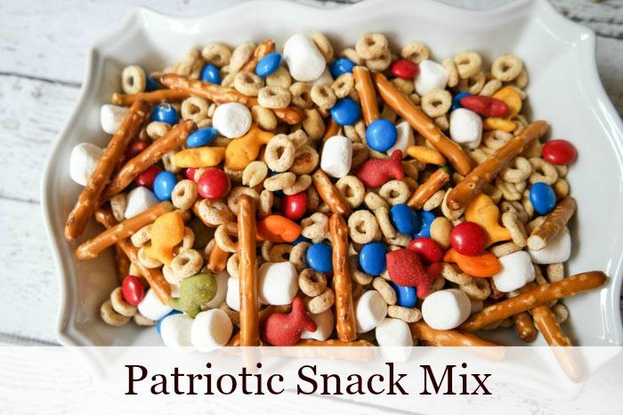 Patriotic Snack Mix Recipe with Cheerios