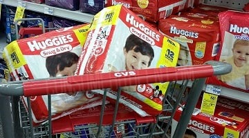 Huggies Diapers $4.12 at CVS After Extra Bucks!