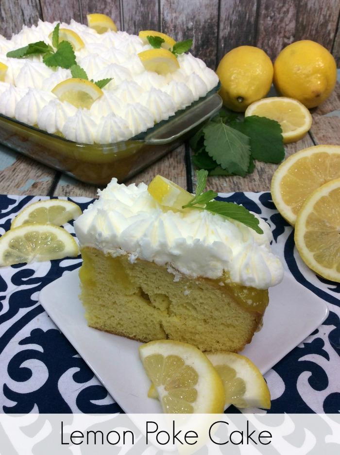 Lemon poke cake Pinterest