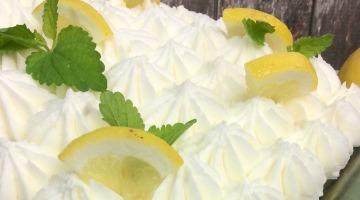 Lemon poke cake featured