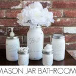 DIY Mason Jar Bathroom Set
