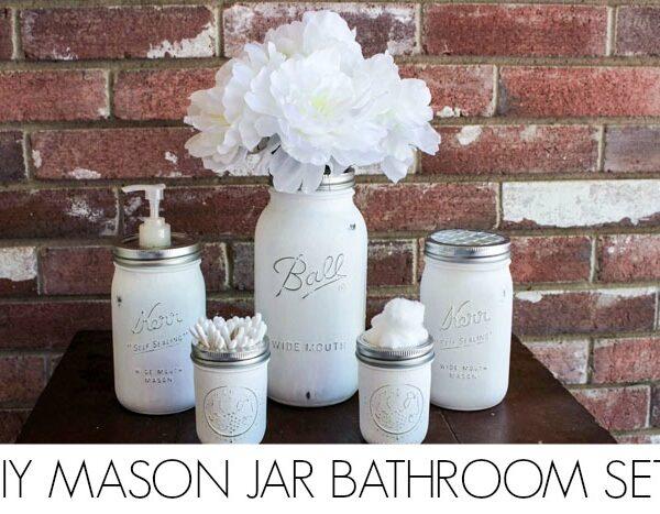 Mason jar Bathroom Set DONE