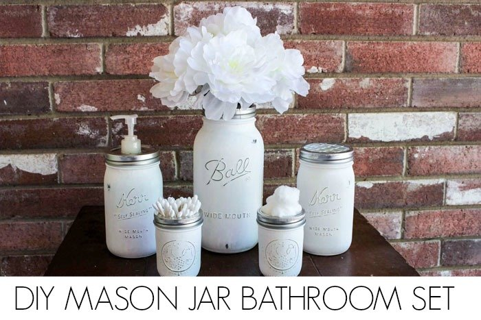 Mason jar Bathroom Set DONE