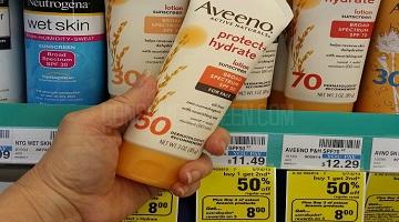 Aveeno Sun Care $4.91 (reg. $11.49) at CVS After EB!