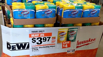Clorox Wipes 2-pk Only $3.97 (reg. $7.97) at Home Depot – Today Only