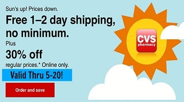 CVS Online: 30% Off + FREE Shipping (Check Your Email)
