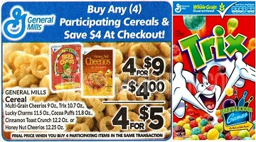 General Mills Cereals as Low as 20¢ Each at Homeland & Country Mart!