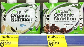 Orgain Organic Nutrition Shakes 4-Pack Only $2.99 at Walgreens!