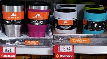 Ozark Trail Insulated Tumblers on Rollback at Walmart!