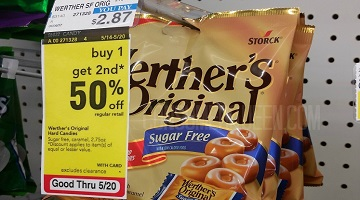 Werther's Original Sugar Free Candy 54¢ at Target & CVS!