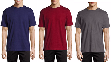 JCPenny: Crew Neck T-Shirts as Low as $2.45 + Free Shipping!