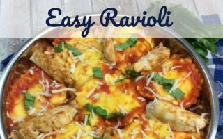 Easy Ravioli with Cajun Chicken
