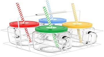 Amazon: Vremi 16oz Mason Jars 4-pc W/Lids & Straws Only $15.99!