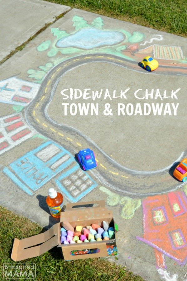 sidewalk chalk rocks