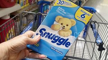 Snuggle Fabric Softener 40-ct. Box 84¢ at Walmart!