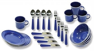 Walmart: Stansport 24 Piece Camping Tableware Set Only $13.72!