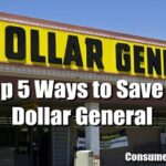 Top 5 Ways to Save When Shopping Dollar General!