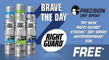 FREE Right Guard Xtreme Precision Dry Spray (Mail-In Rebate)