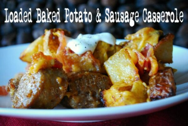 Loaded Baked Potato Casserole with Sausage