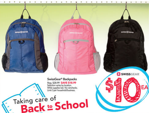 Office Depot/Office Max: Swiss Gear Backpacks $10 With Code