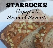 Starbucks Copycat Banana Bread