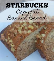 Starbucks Copycat Banana Bread