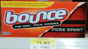 Bounce Dryer Sheets 34-ct. 97¢ at Walmart!