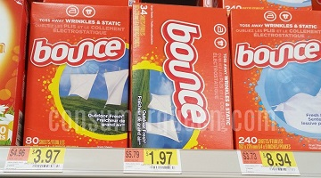 Bounce Dryer Sheets 34-ct. 97¢ at Walmart After Coupon OR Cash Back!
