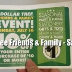 Dollar Tree Friends & Family Event: Save 10% off $10 Purchase!