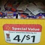 Elmer's Glue Sticks 11¢, Paper-Mate Pens 10-ct. 22¢ at Walmart!