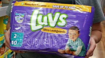 Luvs Diapers: Walmart, Target, Crest Foods (as low as $4.97!)