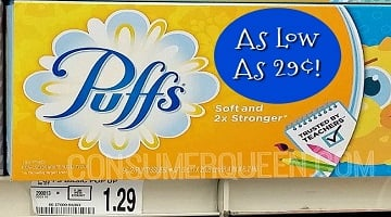 Puffs Tissues as Low as 29¢ at Homeland & Country Mart!