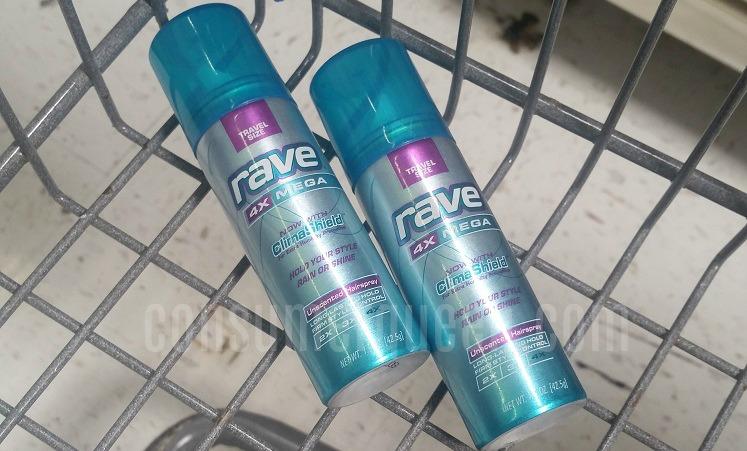 FREE Trial Size Rave Hairspray at Walmart & Target!