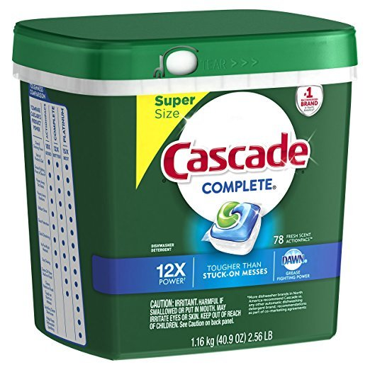 Amazon: Cascade Complete Dishwasher Pacs (78 ct) Just $12.12 Shipped!