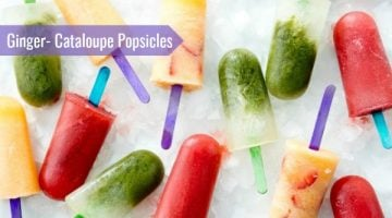 Ginger-Cantaloupe Popsicles