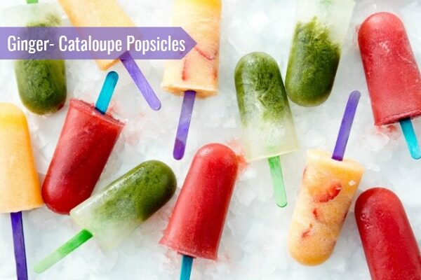 ginger cantaloupe popsicles