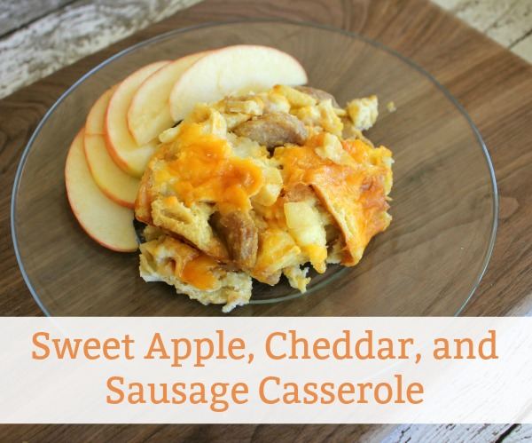 Sweet Apple, Sausage, and Cheddar Casserole