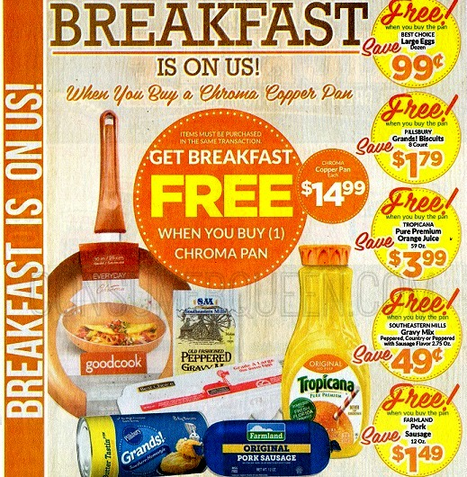 FREE Breakfast ($8.75 in Food) WYB Chroma Pan at Homeland!