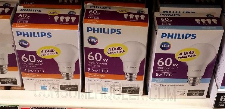 Best Buy: Phillips LED 60w 4pk Light Bulbs $3.99 – Today Only