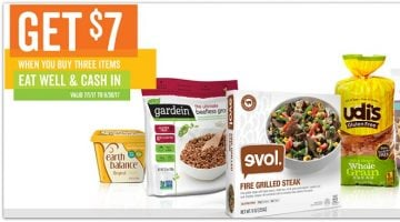 $7 Rebate WYB 3 EVOL, Udi's, Glutino or Earth Balance + Target Deal!